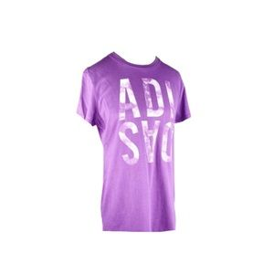 Adidas Go-To Tee Huge Spellout Tie-Dye Purple
